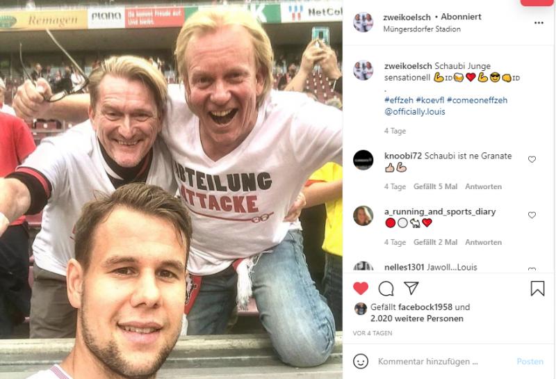 Schaubi und wir nach dem Sieg gegen Bochum - Link zum Instagram Post